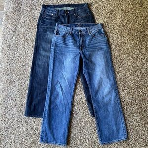 Bundle 2 *Lucky Brand* straight denim blue jeans